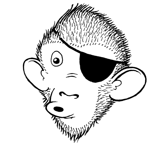 A monkey with an eyepatch, naturally.